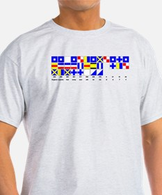 England Expects Signal Black text T-Shirt