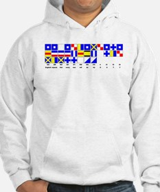 England Expects Signal Black text Hoodie