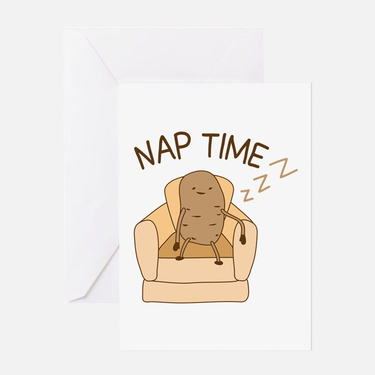 Nap Time Greeting Cards