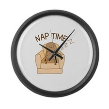 Nap Time Large Wall Clock