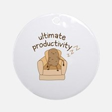 Productivity Potato Round Ornament
