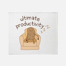 Productivity Potato Throw Blanket
