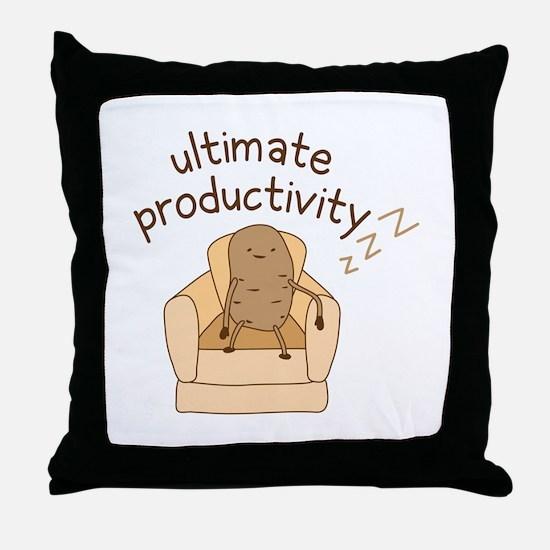 Productivity Potato Throw Pillow