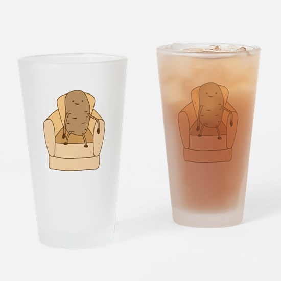 Couch Potato Drinking Glass