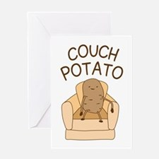 Couch Potato Greeting Cards