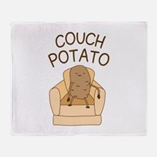 Couch Potato Throw Blanket