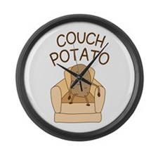 Couch Potato Large Wall Clock