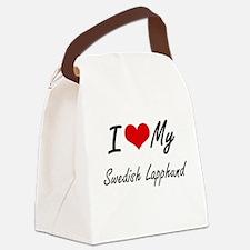 I love my Swedish Lapphund Canvas Lunch Bag
