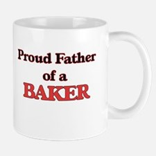 Proud Father of a Baker Mugs