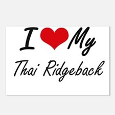 I love my Thai Ridgeback Postcards (Package of 8)