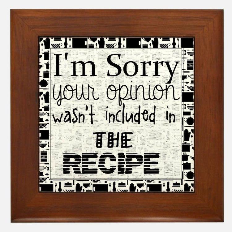 Cute Recipe Framed Tile