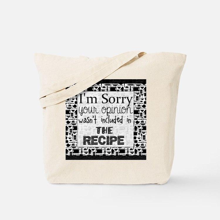 Cute Recipe Tote Bag