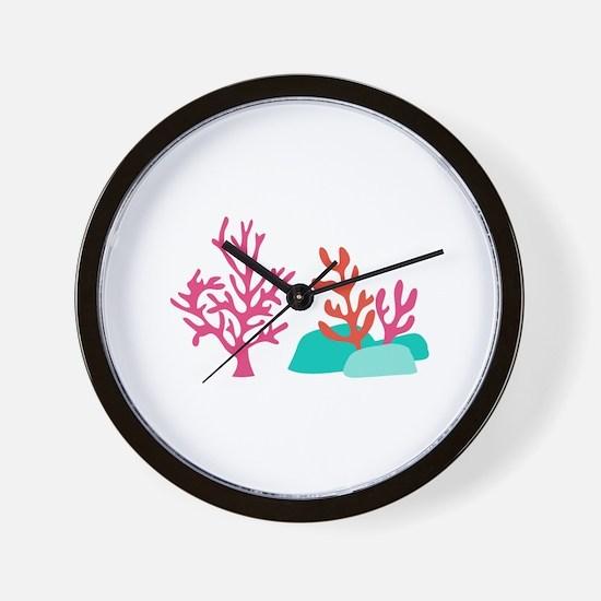 Sea Coral Wall Clock