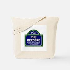 Rue Bergère, Paris - France Tote Bag