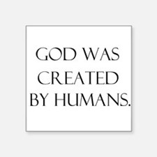 "Unique Creationism Square Sticker 3"" x 3"""