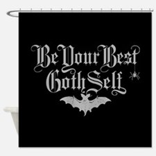 Be Your Best Goth Self Shower Curtain