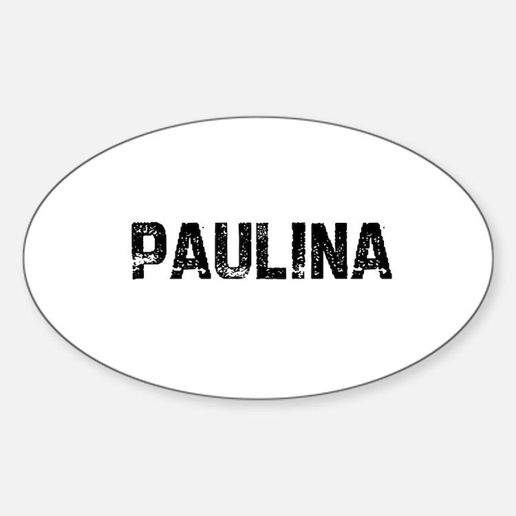 Paulina Oval Decal
