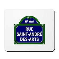 Rue Saint-André des Arts, Paris - France Mousepad