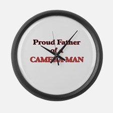 Proud Father of a Camera Man Large Wall Clock