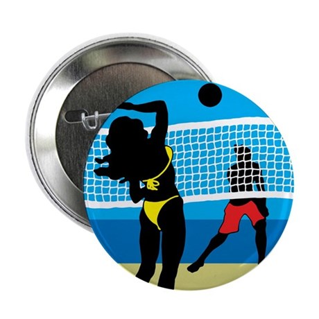 "Beach Volley 2.25"" Button (100 pack)"