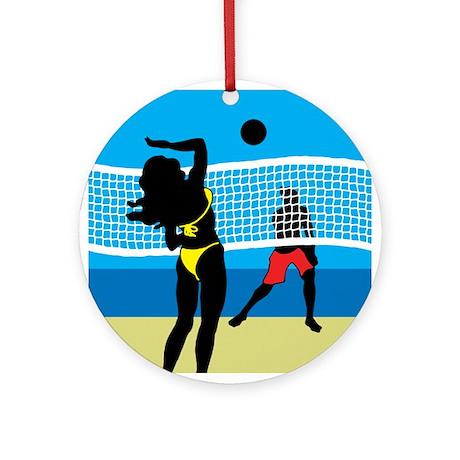 Beach Volley Ornament (Round)