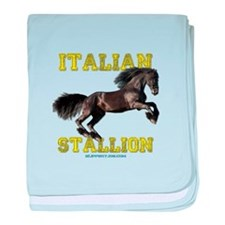 Unique Italian stallion baby blanket
