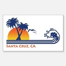 Santa Cruz California Sticker (Rectangle)