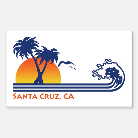 Santa Cruz California Sticker (Rectangle)