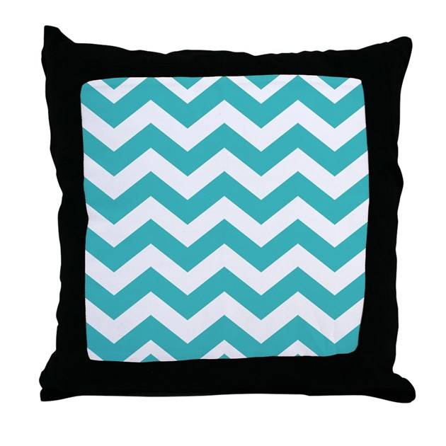 Cleaning Down Throw Pillows : Clean Teal Chevrons Throw Pillow by chevroncitypart2