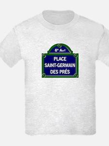 Place Saint-Germain des Prés, Paris - France T-Shirt