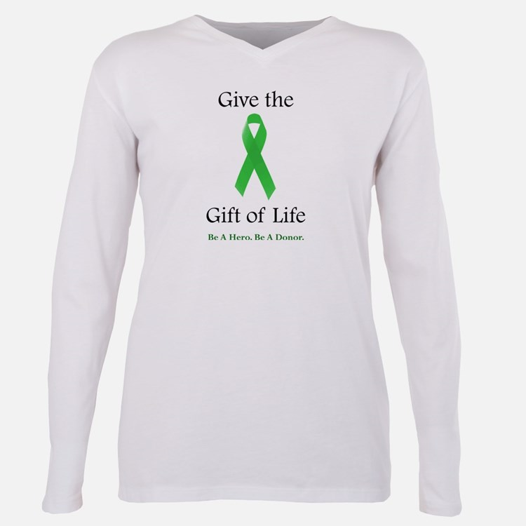 Cute Donorawareness Plus Size Long Sleeve Tee