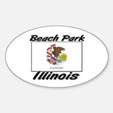 Beach Park Illinois Oval Decal