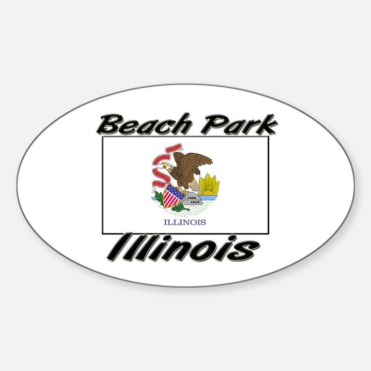 Beach Park Illinois Oval Decal