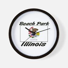 Beach Park Illinois Wall Clock