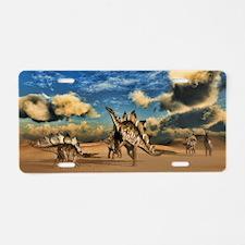 Stegosaurus dinosaur in the desert Aluminum Licens