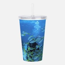 Underwater fish Acrylic Double-wall Tumbler