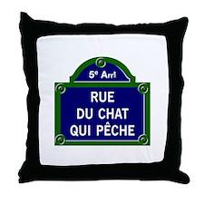 Rue du Chat qui Pêche, Paris - France Throw Pillow