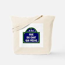 Rue du Chat qui Pêche, Paris - France Tote Bag