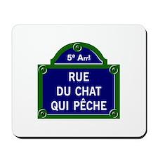 Rue du Chat qui Pêche, Paris - France Mousepad