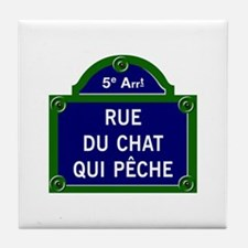 Rue du Chat qui Pêche, Paris - France Tile Coaster
