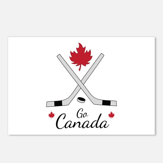 Go Canada Hockey Postcards (Package of 8)