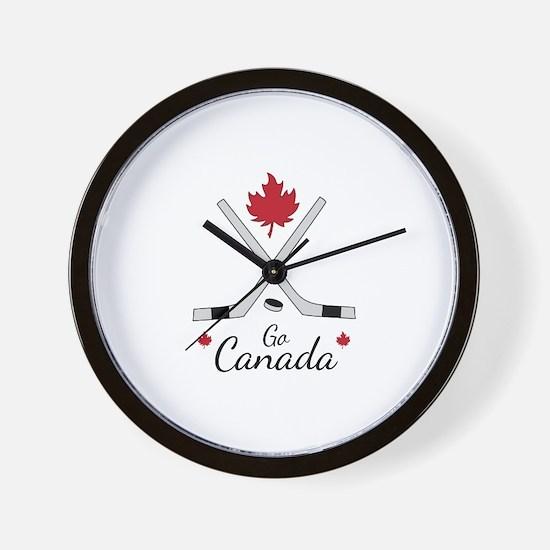Go Canada Hockey Wall Clock