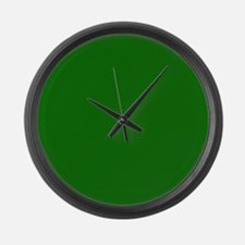 Solid Green Large Wall Clock