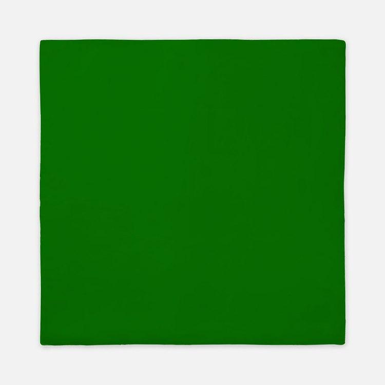 Solid Green Queen Duvet