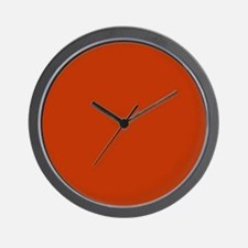 Solid Burnt Orange Wall Clock