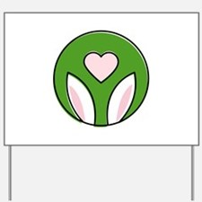 Bunny Ears Love Yard Sign