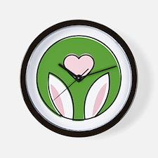 Bunny Ears Love Wall Clock
