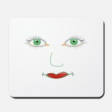 Green Eyes Face Mousepad