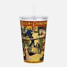 Vintage poster - The Q Acrylic Double-wall Tumbler