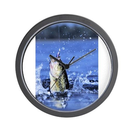 Fishing wall clock by admin cp75933496 for Fish wall clock